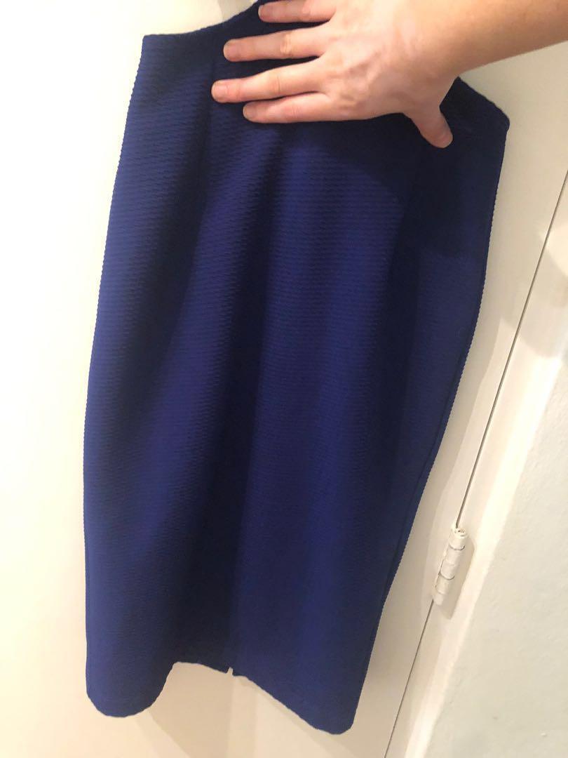 Camilla & Mark sz 8 purple blue cut out midi dress