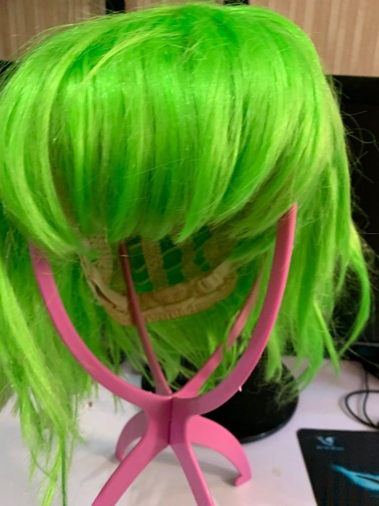 [cosplay假髮] 綠色短wig