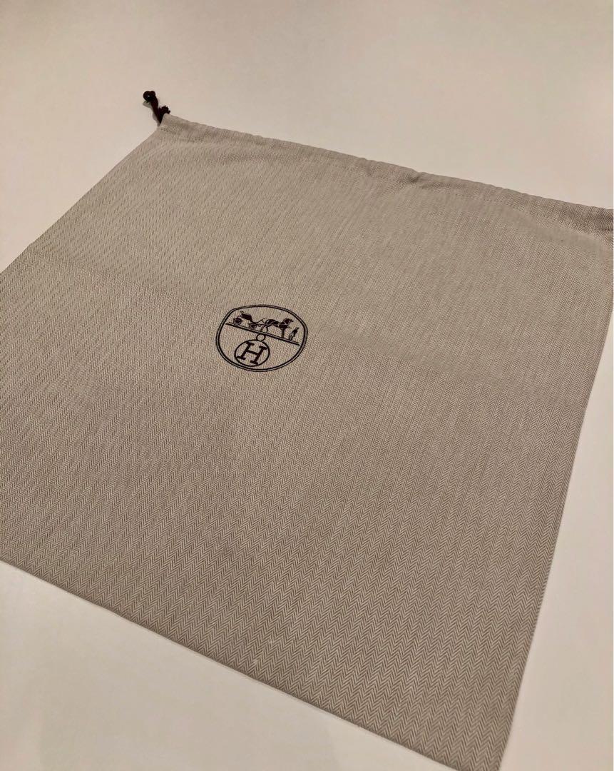 HERMÈS Large Drawstring Dust Bag For Purse/Handbag/Shoes Storage Cover