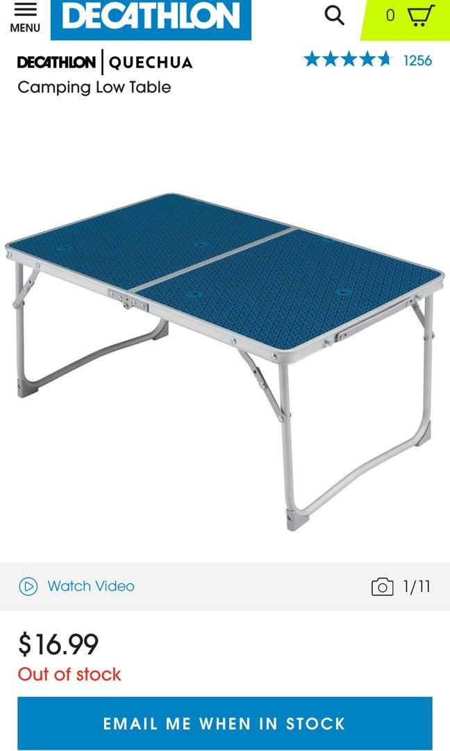 Quechua Camping Low Table Travel Travel Essentials Outdoor
