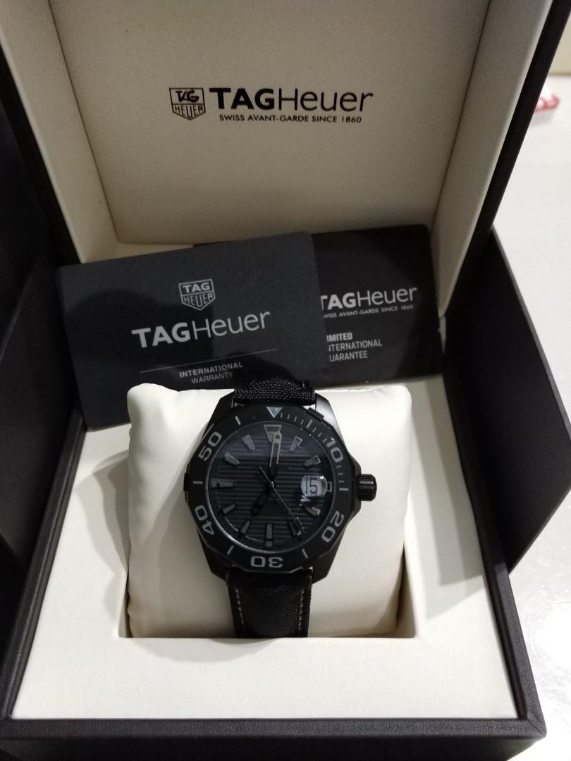 Ready stock Original Ressambled TagHeuer Aquaracer Calibre 5 Black Phantom WAY218B.FC6364