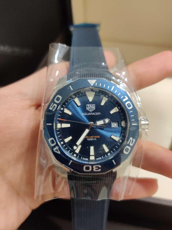 Ready stock Original Ressambled TagHeuer Aquaracer Swiss Quartz Black and Blue WAY111A.FT6151