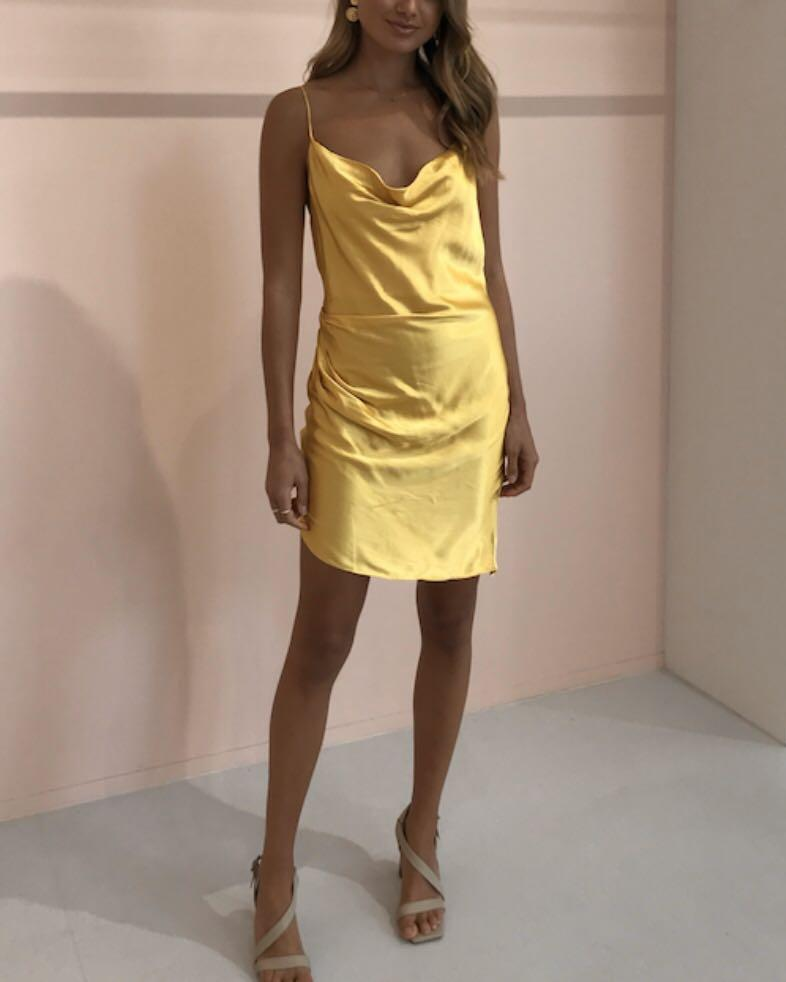RENT FOR $70 incl postage/cleaning - Ivet dress in lemon size S