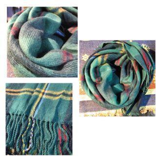 綠色格紋圍巾