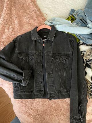 Urban outfitters faded black denim jacket
