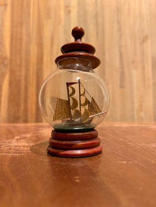 玻璃瓶中船 老物 收藏多年 二手 不含超商店到店運費