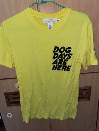 H&M/L.O.G.G短袖黃色上衣 超顯白 二手少穿九成新