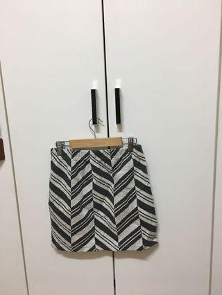 毛料格紋短裙