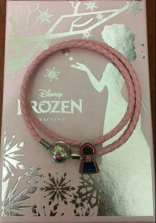 粉紅雙皮繩手鍊