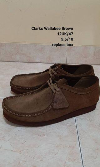 Clarks Wallabee Brown size 12