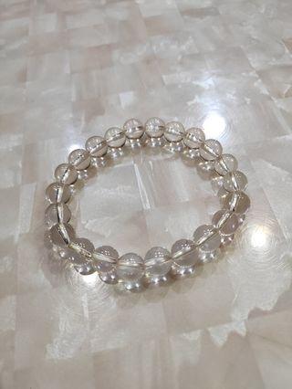 全新 白水晶手珠