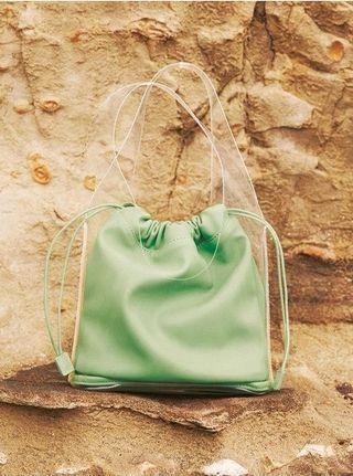 [全新|免運]日本正品 Mila Owen 雙層可愛薄荷綠小提袋