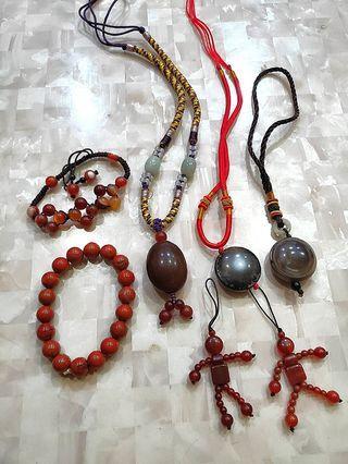 全新 天珠項鏈/吊飾/手珠/小貴人吊飾