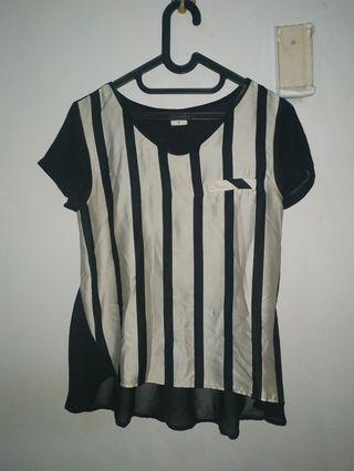 Stripe Blouse black white