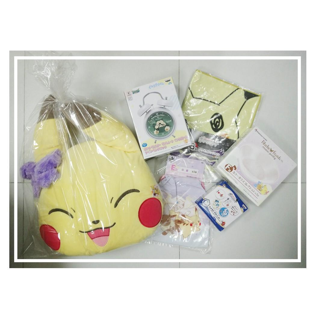 以$240預購 價值$400至$500 寵物小精靈 Pokemon 或  銀魂 福袋,每人限購兩個!