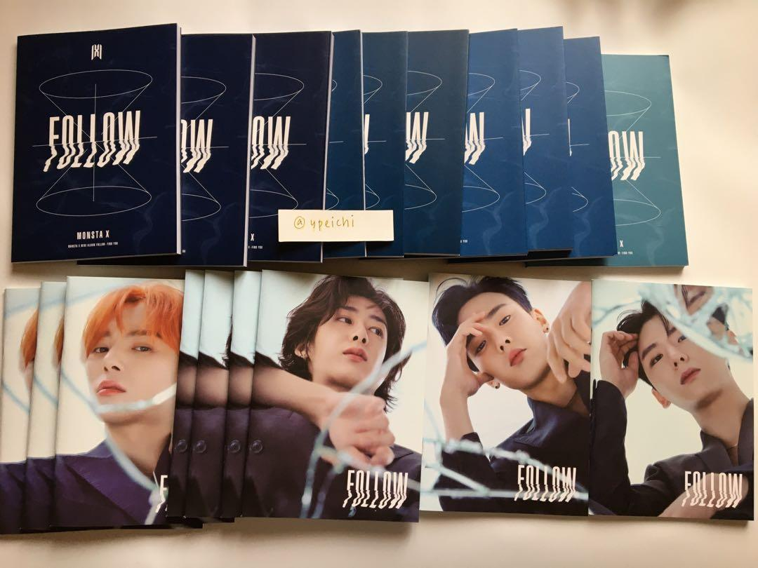 [CLEARANCE] Monsta X Follow Find You Unsealed Albums
