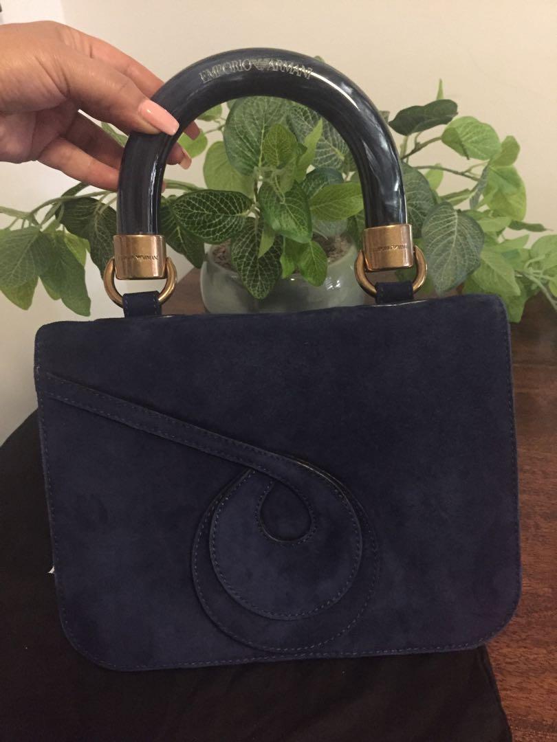 EMPORIO ARMANI resin satchel tote handbag bag AUTHENTIC !!!