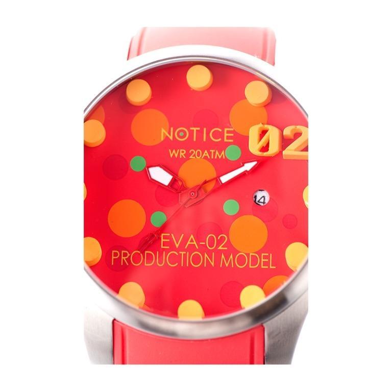 EVA x Notice Diver Watch (EVA-02 Production Model, Asuka Langley) Neon Genesis Evangelion
