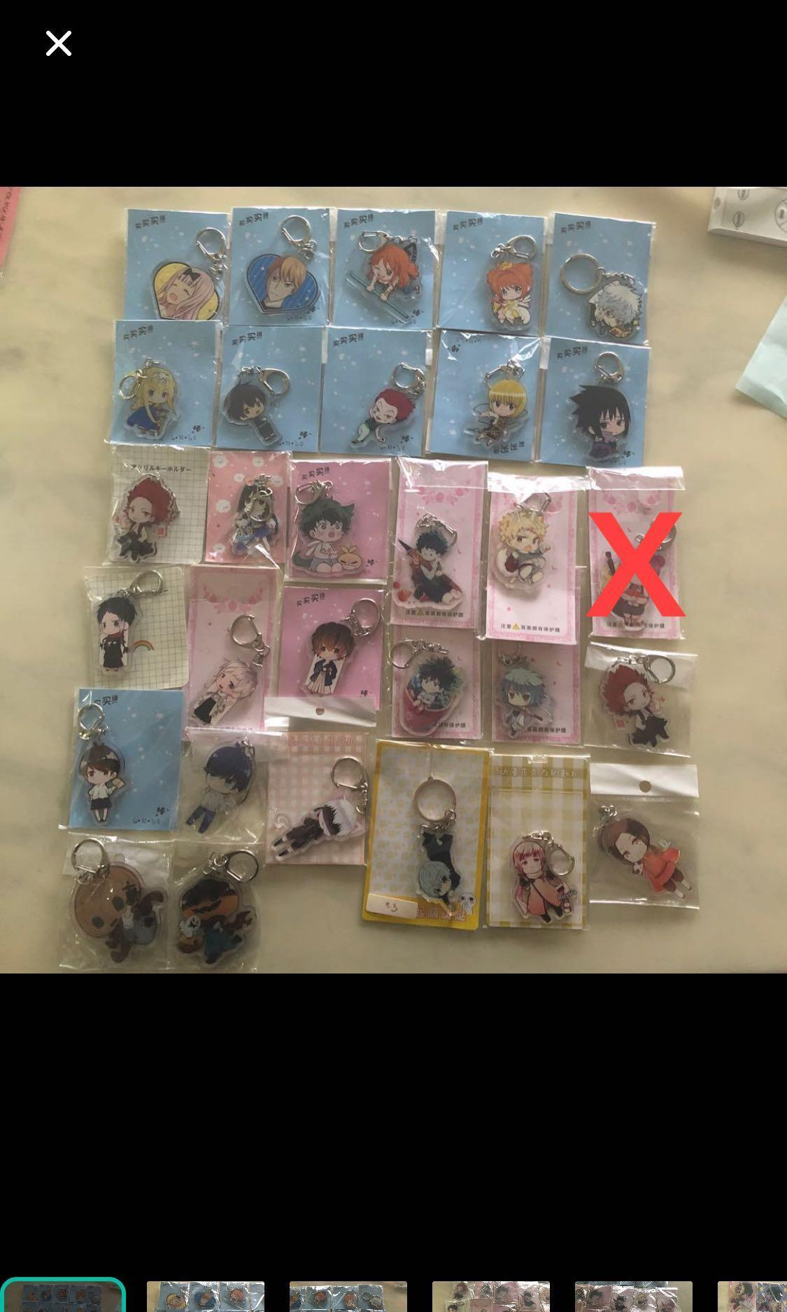 Instocks Anime Keychains & Stands