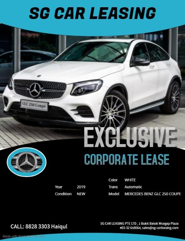 Mercedes Benz GLC 250 coupe for rental