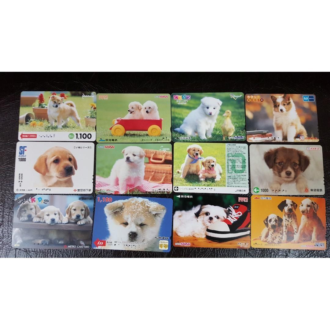 (N31-139) 日本 DOG 狗狗 火車 地鐵 車票 MTR TRAIN TICKET 12 張