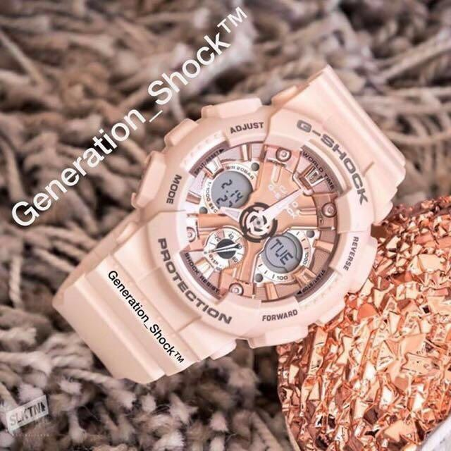 NEW🌟MINI-GSHOCK UNISEX DIVER WATCH : 100% ORIGINAL AUTHENTIC CASIO BABY-G-SHOCK ( BABYG size ) : GMA-S120MF-4ADR / GMA-S120MF-4A / GMAS120MF-4A