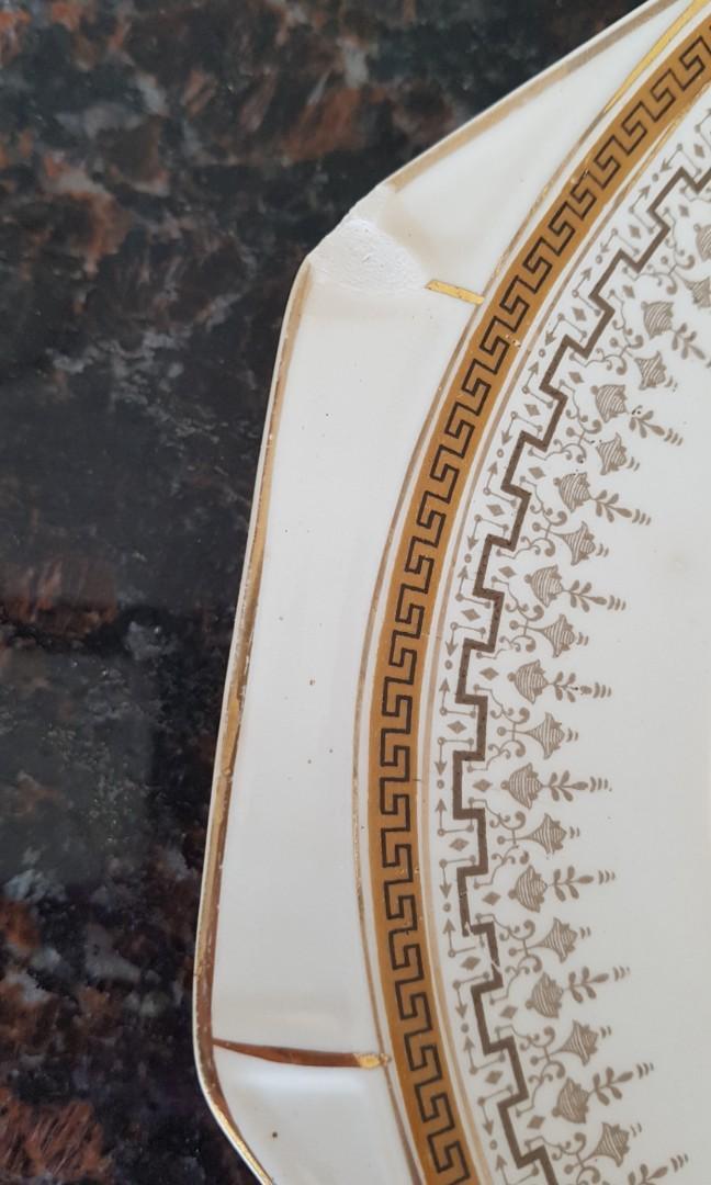 ART DECO VINTAGE PAIR J& G MEAKIN ENGLAND PLATTERS