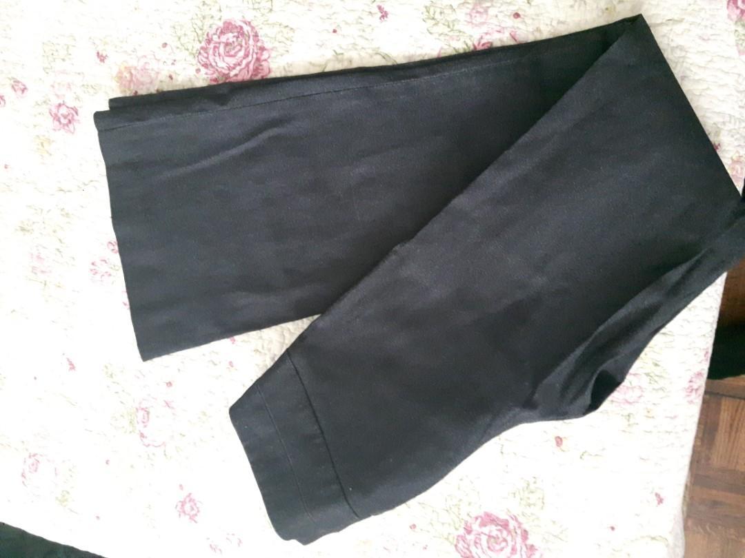 DYNAMITE-WOMENS DRESS PANTS SIZE 1 LOW RISE DARK GREY WIDE LEG FITTED