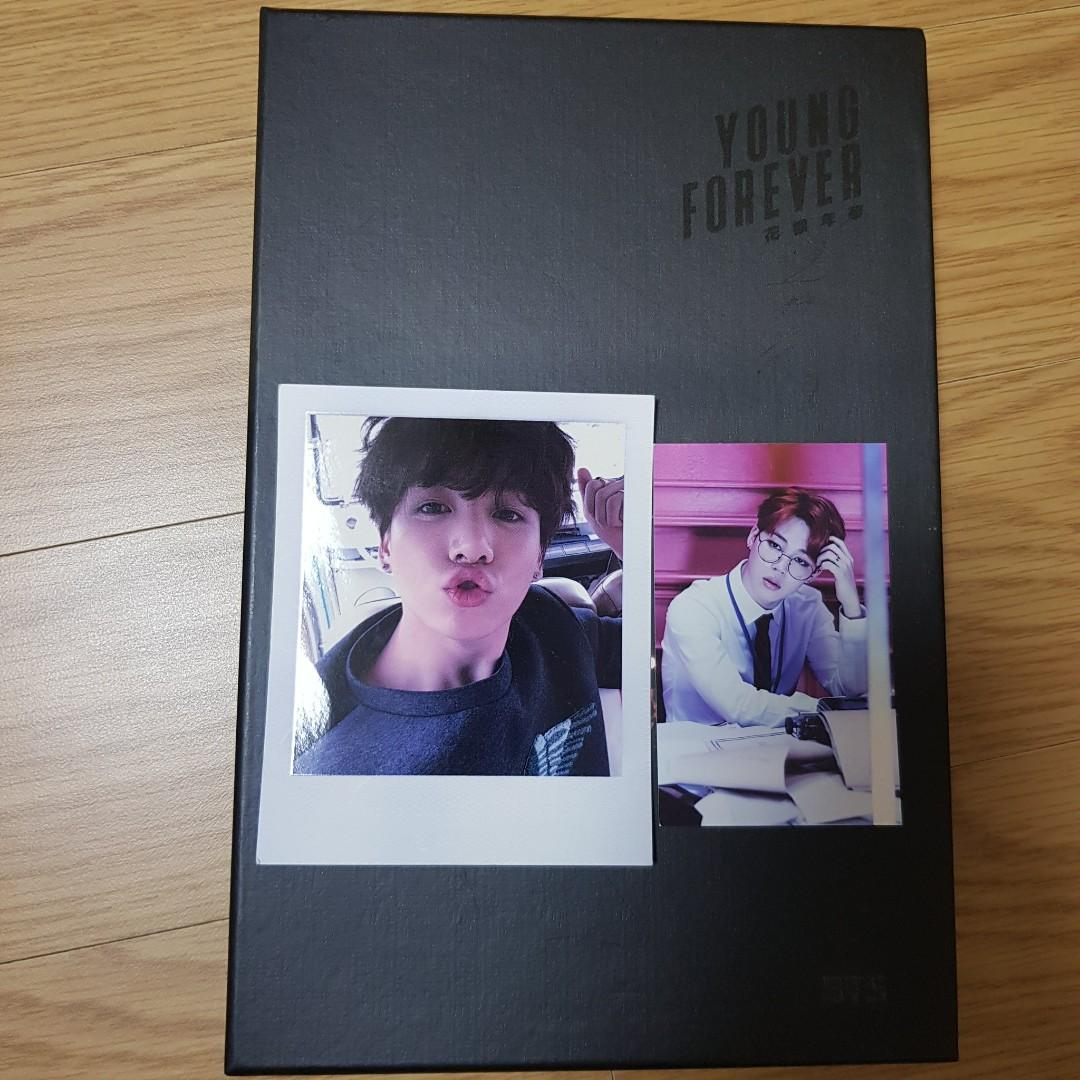 WTS BTS ALBUM ( Young Forever Night Vers ) with Jungkook pc + dope Jimin pc