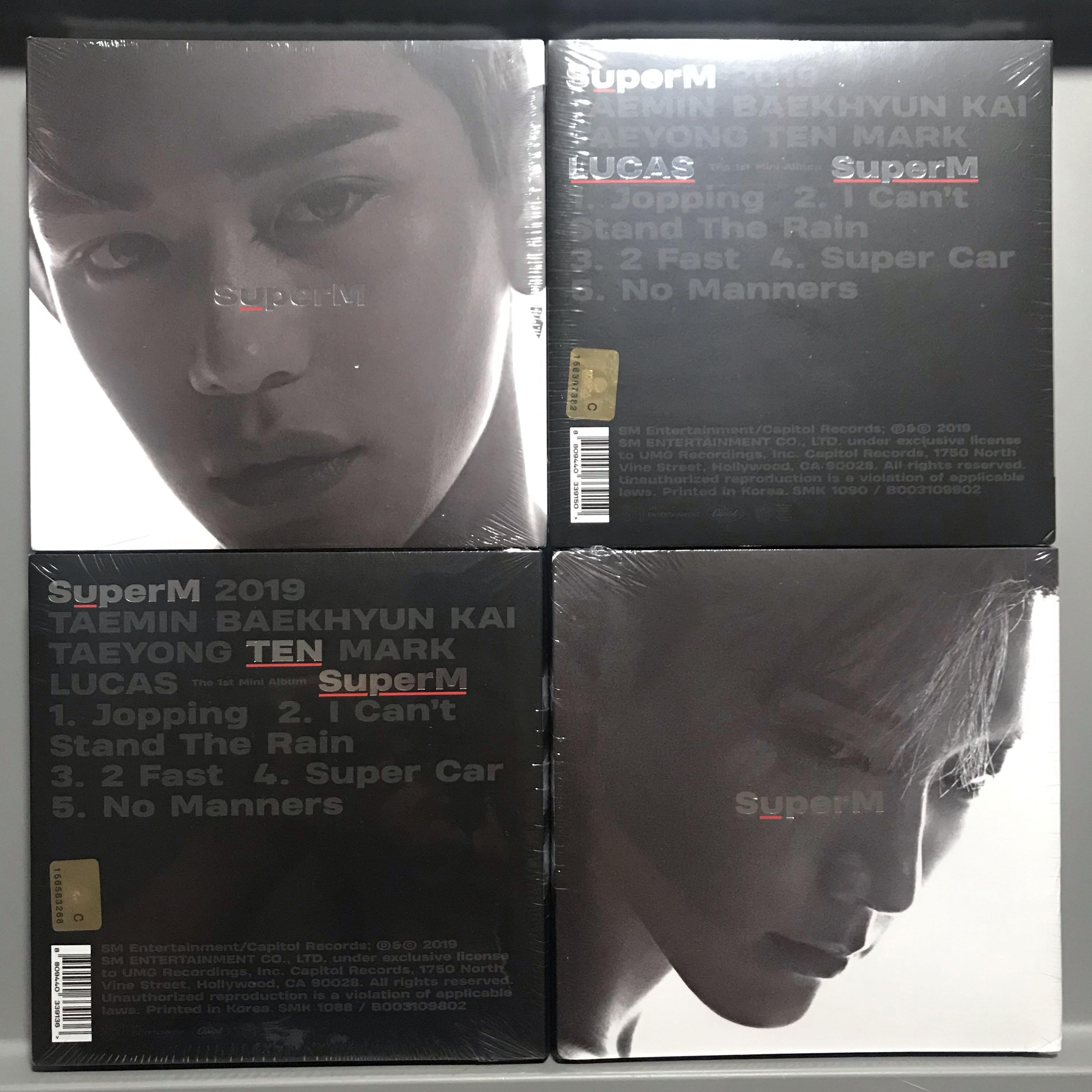 [WTS][READY STOCK]SUPERM ALBUM US VER SEALED 1st PRESS RELEASE