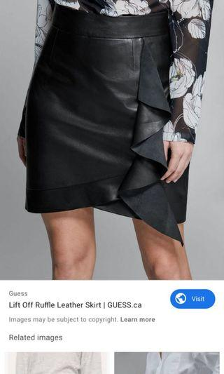 Genuine leather MARCIANO skirt