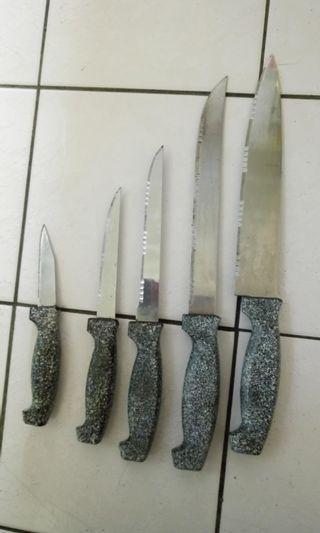 #出清2019!可議!七成新,買來未用,台製不銹鋼刀具組(still in good condition stainless knives)