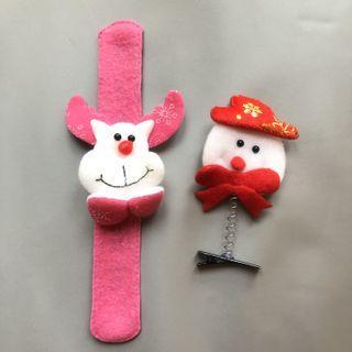 全新 聖誕裝飾 聖誕玩具 聖誕頭飾 Christmas Bracelet and Hairclip
