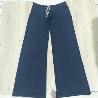 Stripes 深藍 彈性瑜珈褲