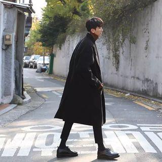【 Gshop.】冬季大衣男長款呢大衣呢子外套寬鬆毛呢大衣簡約男