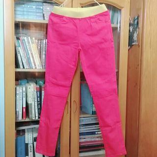 韓製 桃紅彈性牛仔褲
