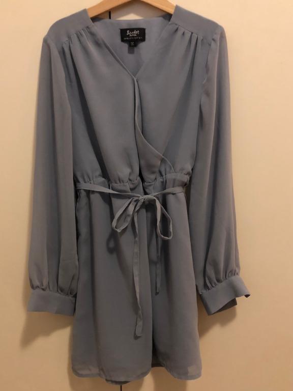 Bardot Junior, Girl Size 8, Blue Chiffon Dress, Brand New