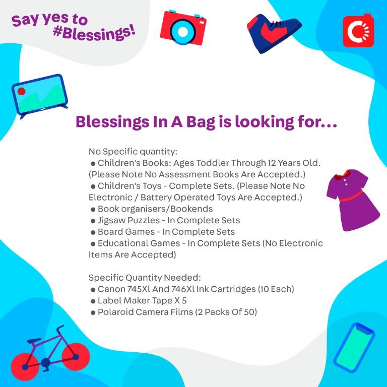 Blessings in a Bag is looking for...