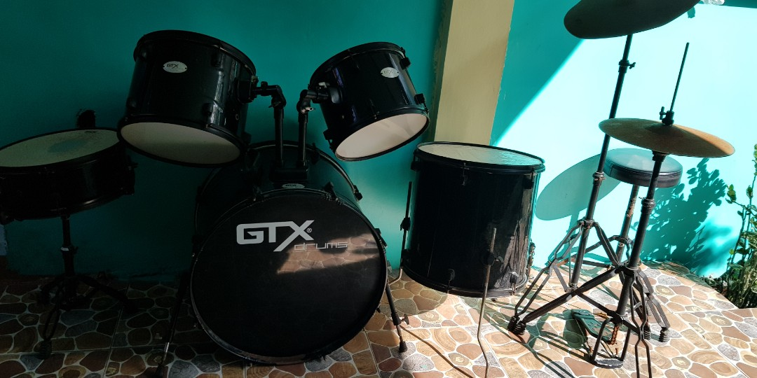 drums set music media music instruments on carousell. Black Bedroom Furniture Sets. Home Design Ideas