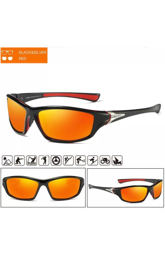 DUBERY Polarized Sunglasses UV400 Day & Night Vision Driving Sports Glasses
