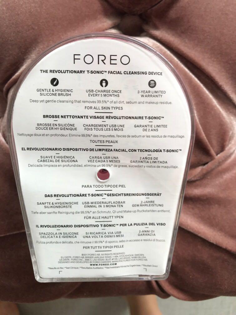 Foreo Luna mini 2 Bnib T-sonic facial cleansing device