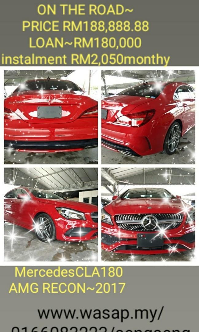MERCEDES CLA180AMG SPEC  Year:2017 ROCEN Mileage:30,400  On the road Price RM188,888.88☺👍HP0122367272SENGSENG☺🙏