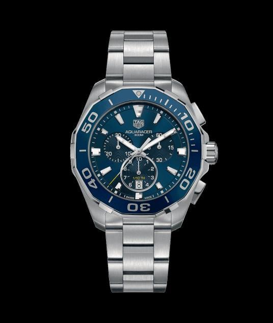 (ready stock) Original Ressambled TagHeuer Aquaracer Chronograph Blue dial CAY111B.BA0927