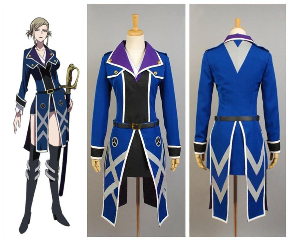 RENT/SALE K-project Awashima Seri Blue Uniform Cosplay Costume
