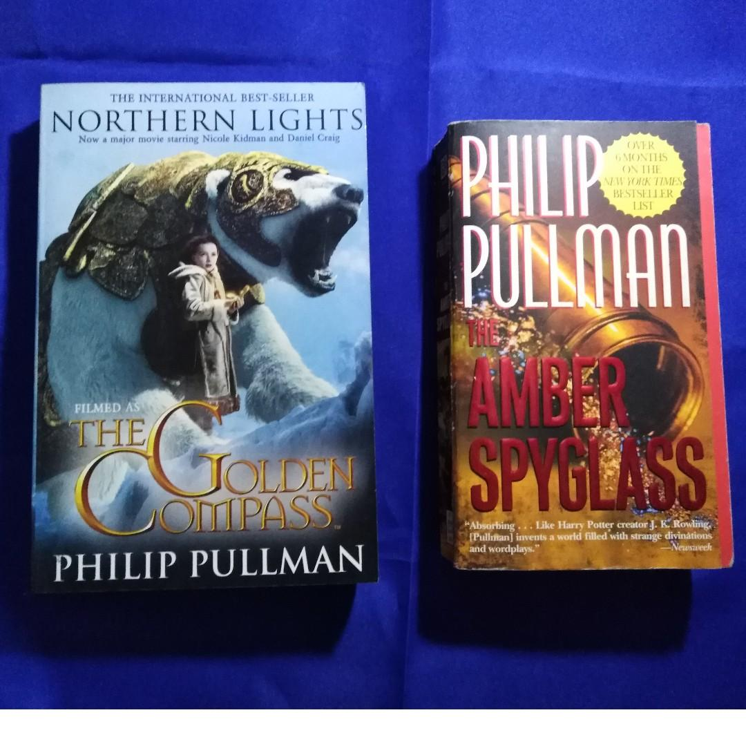 The Golden Compass and The Amber Spyglass by Philip Pullman(His Dark Materials #1 & #2)