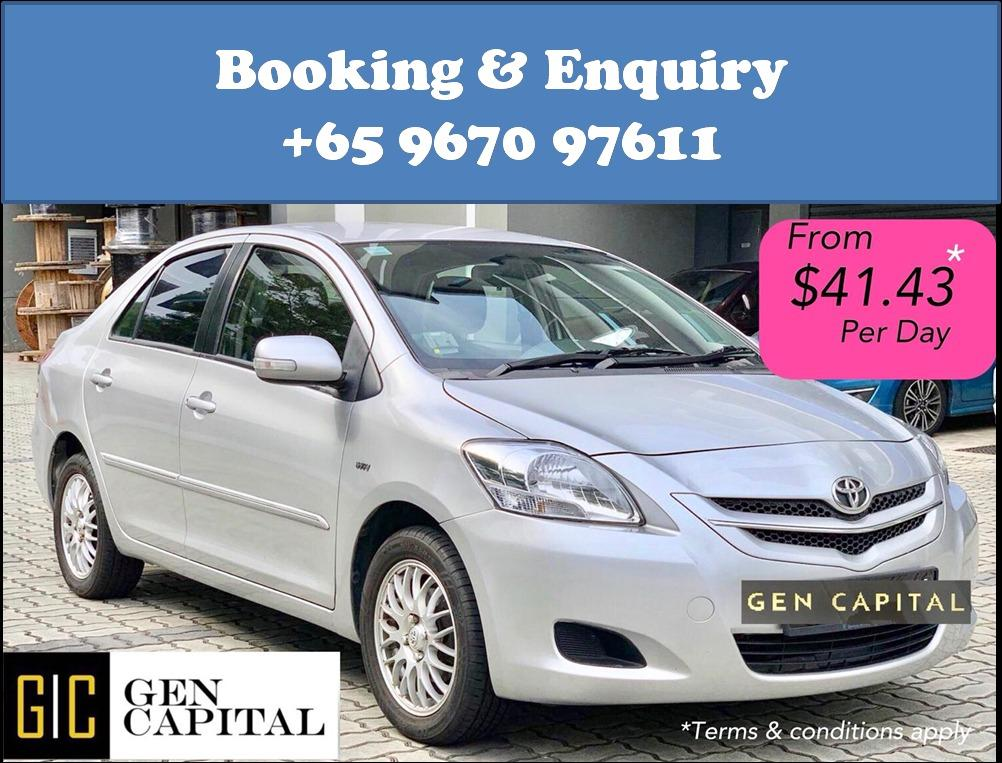 Toyota Vios 1.5A @ Cheapest rental! Only $500 drive away!
