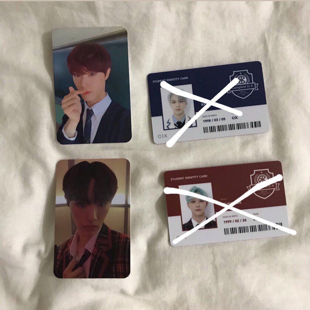 WTB/WTT/LF CIX 2nd Album Hello,Strange Place Photocard and Student ID