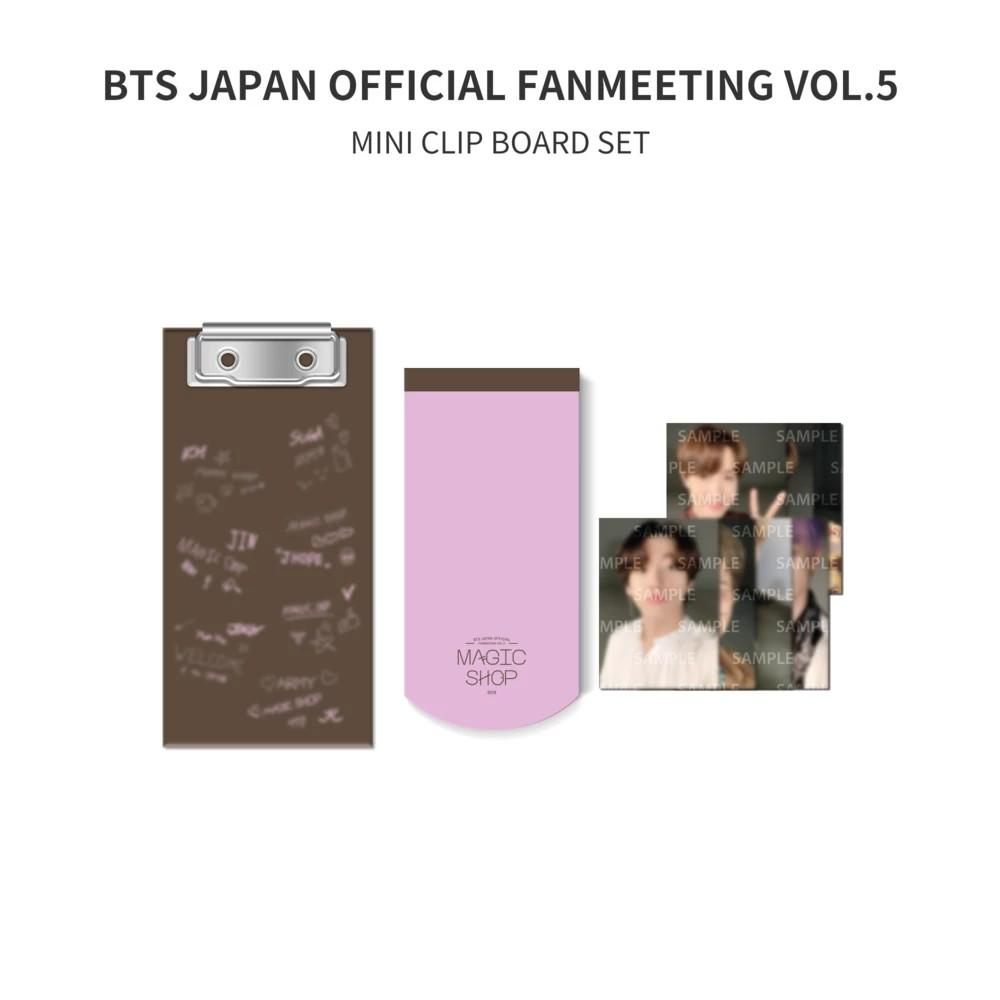 [WTS] BTS 5th Muster Japan MD Mini Clip Board loose