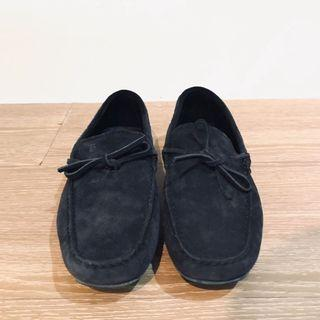 Tod's suede loafers經典豆豆鞋 深藍麂皮 UK5.5