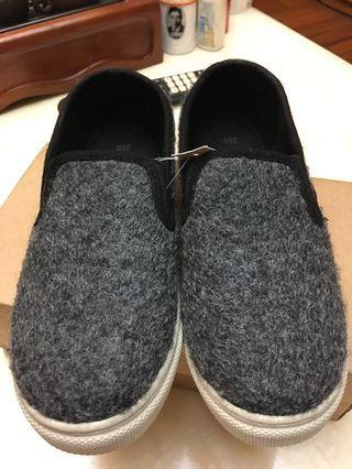 全新品 捲捲灰絨毛 懶人鞋
